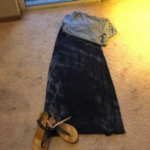Dresses & Skirts - Medium black tie dyed maxi skirt